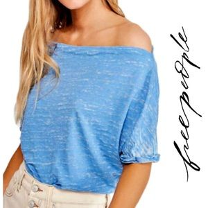 NWT Free People • Astrid Convertible Neck T-Shirt